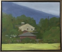 Ann Wolfer, oil on slate, 13x11, $250