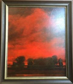 """Red Evening,"" oil, Steve Sheffield, $1250"