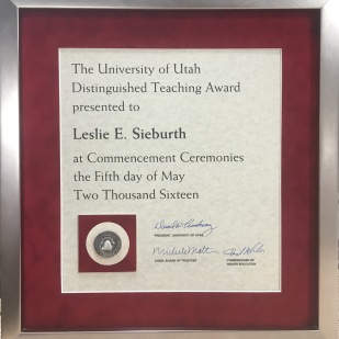 University of Utah annual commencement awards, Bullock's has framed them for decades
